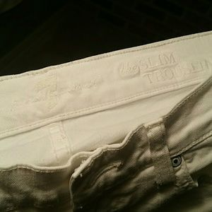 7 For All Mankind the Slim Trouser WHITE Size 26